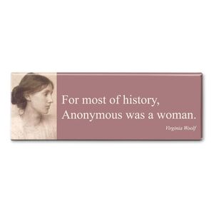 MAGNET PANORAMIC QUOTE WOOLF - ANONNYMOUS WAS A WOMAN