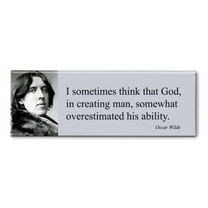 MAGNET PANORAMIC QUOTE WILDE - I SOMETIMES THINK THAT GOD