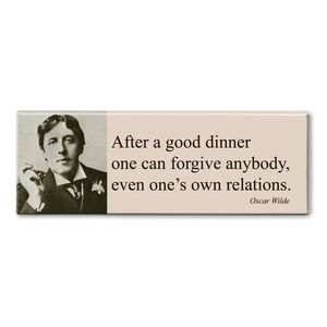 MAGNET PANORAMIC QUOTE WILDE - AFTER A GOOD DINNER